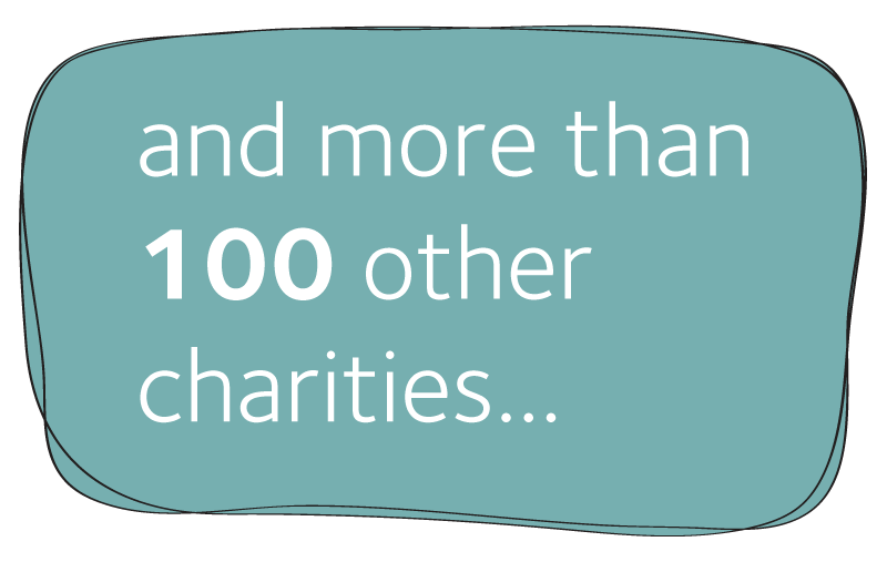 image reading and more than 100 other charities